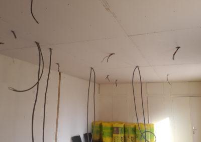 Renovation interireur-Electricité-plaque-platre