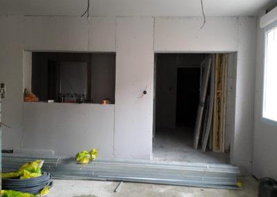 Renovation interireur-Plaque-Platre-Electricité-Micro-crèche